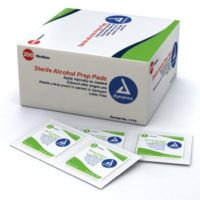Alcohol Prep Pads First Aid Skin Cleansing Wipes