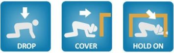 Be Prepared for Earthquakes, Drop Cover Hold On - Earthquake Survival Tips