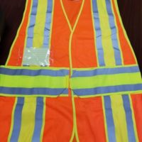 Class 2 Legend Safety Vest ID Pockets Reflective Hi-Vis Orange ANSI
