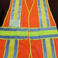 Class 2 Legend Safety Vest ID Pockets Reflective Hi-Vis Orange ANSI