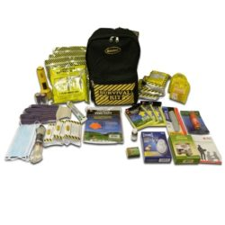EQKEX3 3-Person Deluxe Backpack Earthquake Kits, Sunset Survival Kits, Prepper Earthquake Kits, Survivalist Water and Food, Earthquake Safety