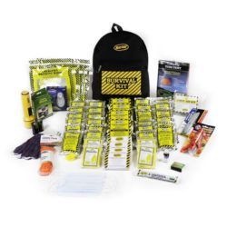 EQKEX4 4-person Deluxe Earthquake Kit Backpack, Sunset-Survival Earthquake Kits, Survival Backpacks Earthquake Safety