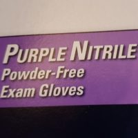 Nitrile Exam Gloves Powder Free Purple