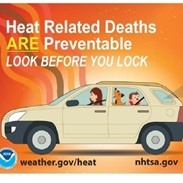 FEMA Safety Tips, Prevent Heat-Related Deaths, Look Before You Lock