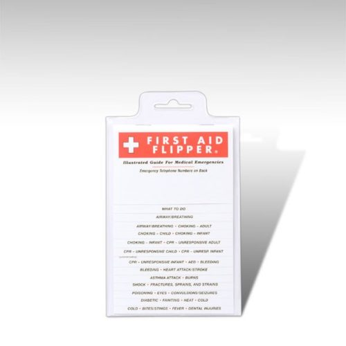 Pocket First Aid Flip Chart, Pocket First Aid Guide, School Safety, Sunset Survival Kits