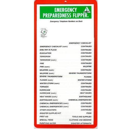 FlipperGuides Emergency Preparedness Flip Chart, First Aid Kits