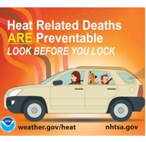 Help Prevent Heat-Related Deaths - Look Before You Lock Your Car, Safety Tips from FEMA, Sunset Survival