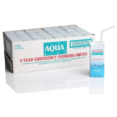 Aqua Blox Survival Water Box 5-year emergency earthquake survival water