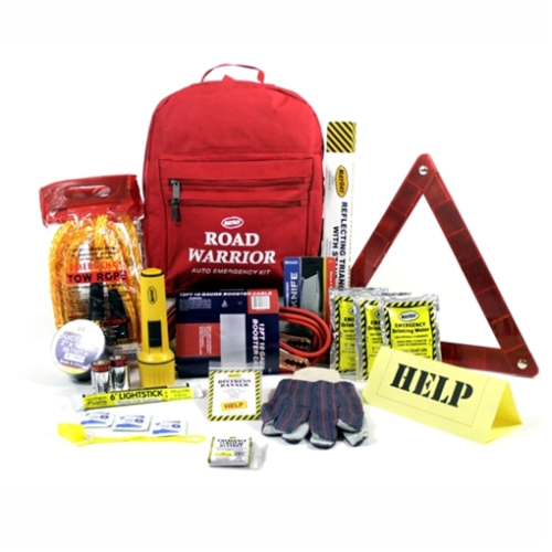 MAA06 Roadside Emergency Backpack, Sunset Survival & First Aid Kits, Travel Safety