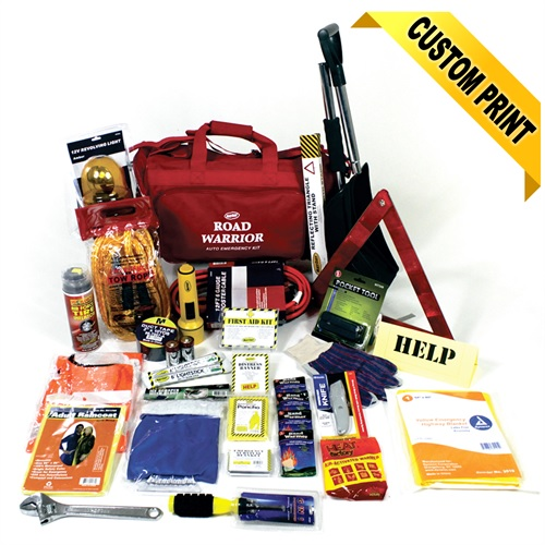 MAA10-DLX Deluxe Roadside Safety Kit with First Aid, Travel Safety Kits