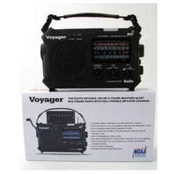 MC-79-500 - Voyager Solar NOAA Weather Radio, Emergency Preparedness Battery-Free Crank Radio from Sunset Survival Kits, Disaster Kit Supplies