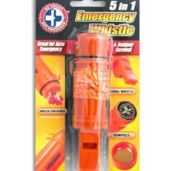 MC89-S 5-in-1 Emergency Whistle from Sunset Survival and First Aid, Emergency Preparedness Kits, Survival Supplies