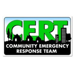 MCRT-HH-FRT CERT Sticker Label from Sunset Survival and First Aid, CERT Responder Supplies, Emergency Kits, Disaster Preparedness, Survival Gear