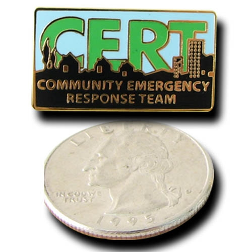 MCRT-PIN CERT Full-Color Logo Stick Pin from Sunset Survival and First Aid, C.E.R.T. Supplies, Emergency Kits, Disaster Preparedness