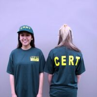 MCRT-TS CERT Shirts, C.E.R.T. Green T-Shirt, Community Responder Kits, Emergency Response Kits
