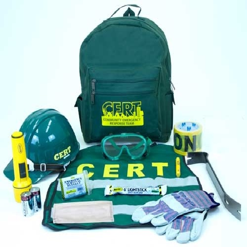 MCRT1 C.E.R.T. Responder Backpack Kit, from Sunset Survival and First Aid, CERT Responder Supplies, Emergency Kits, Survival Supplies, Disaster Preparedness
