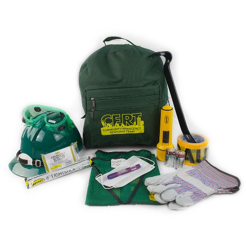 MCRT1 CERT Backpack Kit, Emergency Responder Kits, Reflective Safety Vest