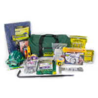 MCRT3 Deluxe CERT Responder Kit in Gear Bag, Emergency Reflective Vests