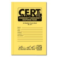 MCRT571 Official All-Weather CERT Forms Book from Sunset Survival and First Aid, CERT Responder Gear, Emergency Kits, Survival Supplies, First Aid Kits, Disaster Preparedness