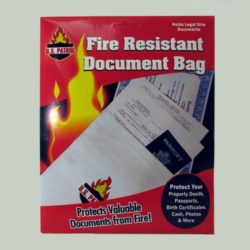 MEE38 Fire Resistant Document Safety Bag from Sunset Survival and First Aid, Fire Safety Supplies, Emergency Survival Kits, Disaster Preparedness