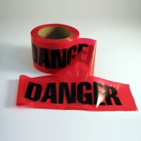 MEE43 Red Danger Tape, non-adhesive barricade tape from Sunset Survival and First Aid, Emergency Responder Supplies, Survival Kits, Disaster Preparedness
