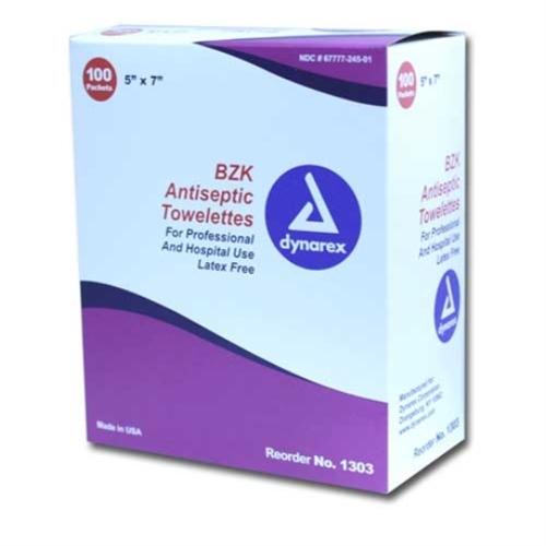 MFA-17FP Benzalkonium Chloride BZK Antiseptic Wipes from Sunset Survival and First Aid, Emergency Preparedness, First Aid Kits, Survival Kits, Disaster Preparedness