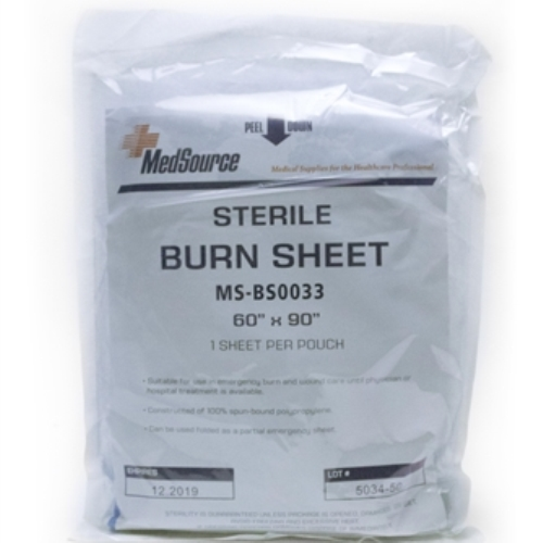 MFA-26SH Sterile Burn Sheet, from Sunset Survival and First Aid Kits, responder kits, disaster preparedness, emergency kits, burn trauma kits
