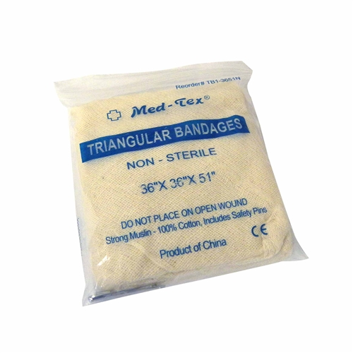 MFA-28FP Triangular Bandage with Safety Pins, from Sunset Survival and First Aid Kits, Emergency Supplies, Disaster Preparedness