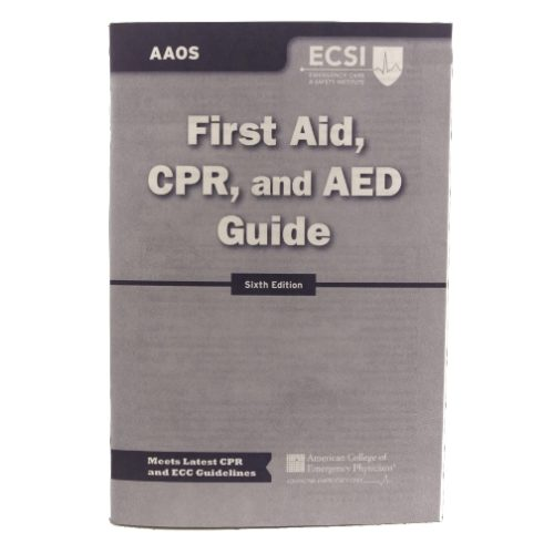 MFA-44-64 First Aid, CPR and AED Instructions Guidebook from Sunset Survival and First Aid, Emergency Preparedness Kits, Survival Supplies