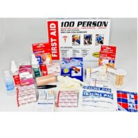 MFA-CAB-100 100-Person Metal First Aid Cabinet from Sunset Survival and First Aid, emergency kits, safety supplies, disaster preparedness