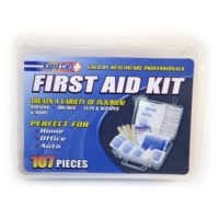 First Aid Kit, 107 piece, travel first aid kit, safety kits, emergency supplies