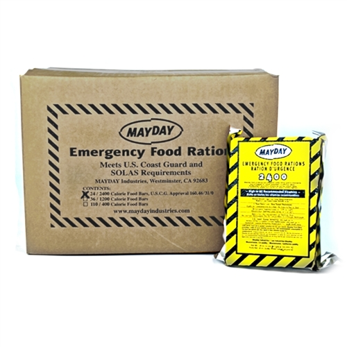 MFB24MC Case of 2400-cal Emergency Food Bars, from Sunset Survival and First Aid, Emergency Kits, Survival Supplies, Disaster Preparedness