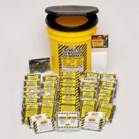 MKEC4P 4-Person Emergency Survival Go-Bucket Kit with Emergency Toilet, from Sunset Survival, Emergency Kits, Disaster Preparedness, Earthquake Survival Kits