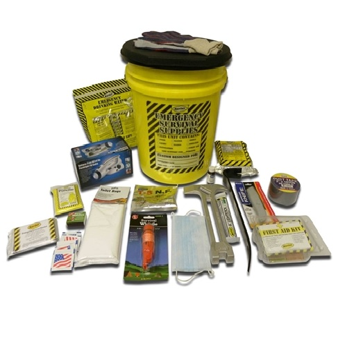 MKEX1P Emergency Survival Go-Bucket Kit with Honeybucket Portable Toilet, from Sunset Survival and First Aid, Emergency Kits, Survival Water and Food, Earthquake Kits, Disaster Preparedness