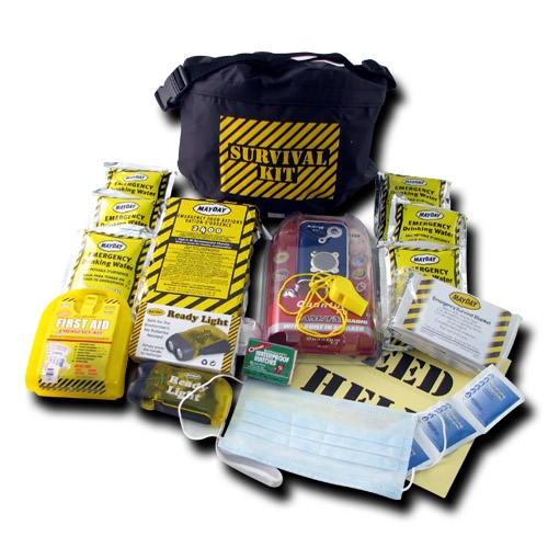 MKFP Survival Fanny Pack Kit, First Aid, Emergency Water and Food,, Disaster Safety Kits