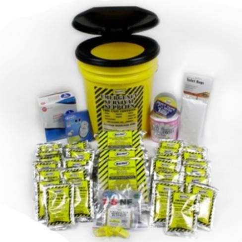 Classroom Lockdown Bucket Kit, School Safety Kits, Classroom Kit, Emergency Toilet Kits