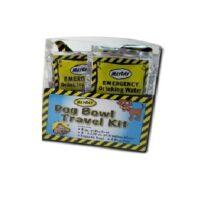 MKT-PETBOWL-RET Pet Travel Kit, Pet Survival Kits, Dog and Cat Travel Supplies, Sunset Survival Kits