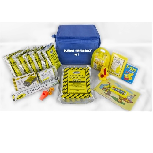 MKT-SEK School Emergency Kit, Sunset Survival Classroom Lockdown Kits, Earthquake Safety Kits