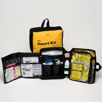 MKT-SMT 64-piece SMART First Aid Survival Kit, Trauma Supplies, Sunset Survival Kits, Disaster Bags,, School Safety