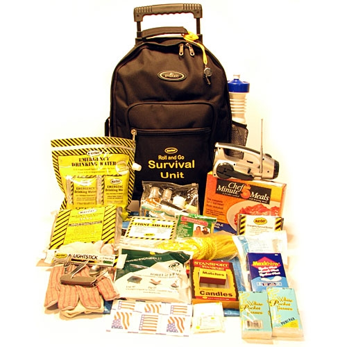 MKT-WH2 Roll and Go Wheeled Survival Kit for 2 People, from Sunset Survival and First Aid, Emergency Kits, Disaster Preparedness, Survival Go-Kits