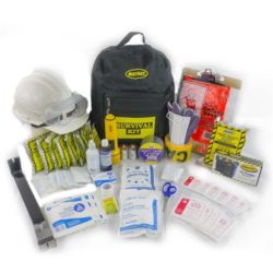 MKT1 Classroom Emergency Kit in Survival Backpack with First Aid from Sunset Survival, School Safety Kits
