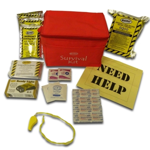 MKT3 Commuter Survival Kit in Red Cooler Bag, from Sunset Survival and First Aid, Emergency Kits, Disaster Preparedness, Roadside Safety Kits