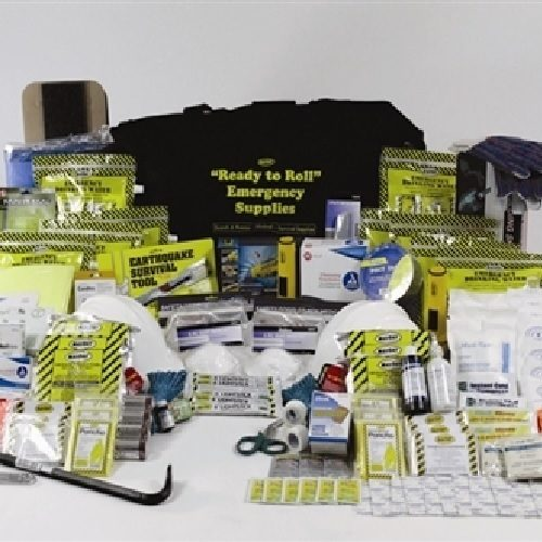 Sunset Survival Ready to Roll Emergency Kit - First Aid Kit on Wheels, Earthquake Supplies, Rolling Trauma Kit