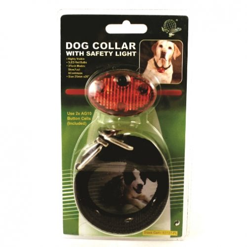 MPET12A Dog Collar with Safety Light from Sunset Survival and First Aid, Emergency Preparedness Kits, Survival Supplies