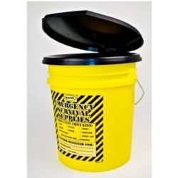 MPP33 Honey Bucket Portapottie Emergency Toilet Kits, Sunset Survival, Emergency Kits, Classroom Lockdown, Disaster Kits