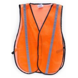 MSH55-MG-O Orange Mesh Reflective Safety Vest from Sunset Survival and First Aid, Emergency Kits, Safety Supplies, Disaster Preparedness
