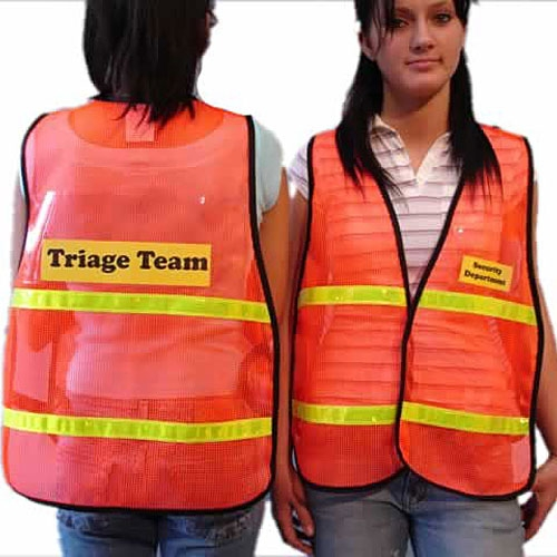 MSH55TR Legend Safety Vest with Clear Pockets from Sunset Survival and First Aid, Emergency Responder Supplies, Survival Kits, Disaster Preparedness