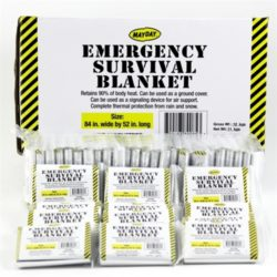 MSH77ML-CS240 Case of 240 Mylar Survival Blankets from Sunset Survival and First Aid, Emergency Kits, Survival Supplies, Disaster Preparedness