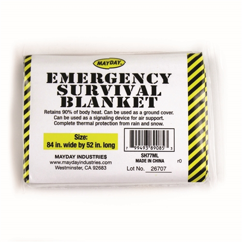 MSH77ML-S Emergency Mylar Survival Blanket, Space Blanket, Emergency Kits, School Safety First Aid