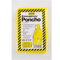 MSH88 Hooded Emergency Poncho from Sunset Survival and First Aid, Emergency Kits, Survival Supplies, Disaster Preparedness